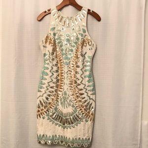 Verty Aztec Sequin Dress